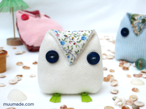 An easy-to-make button owl