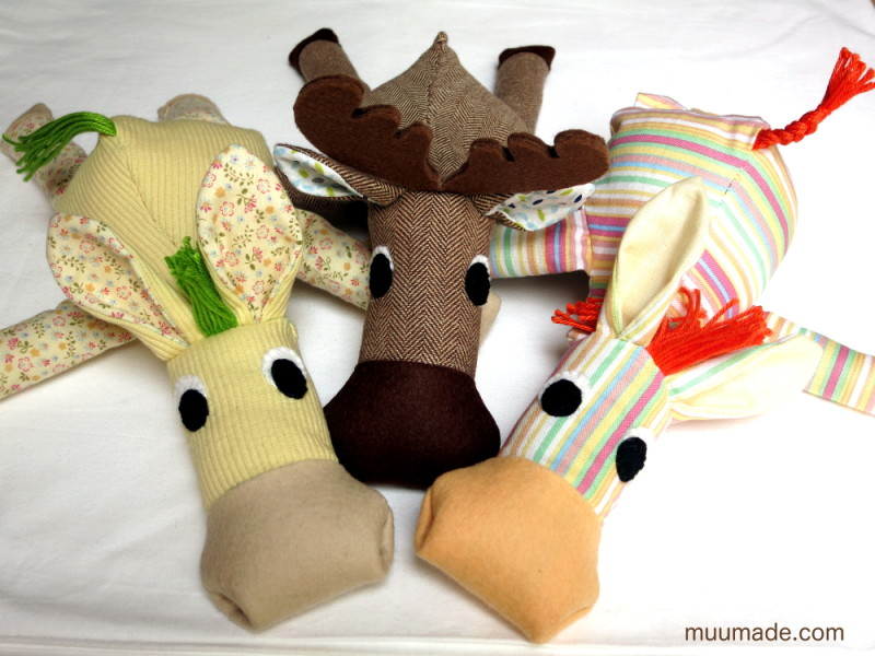 Huggable Horsey, Zebra, Moose sewing pattern