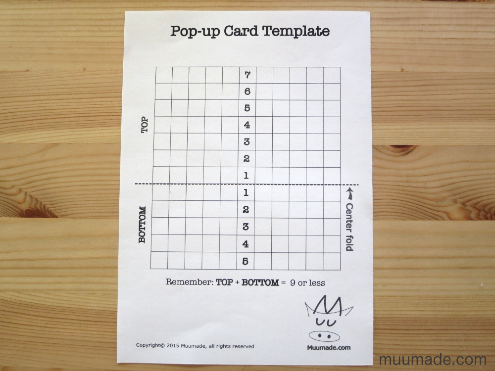 An easy pop up card template muumade for Pop up storybook template