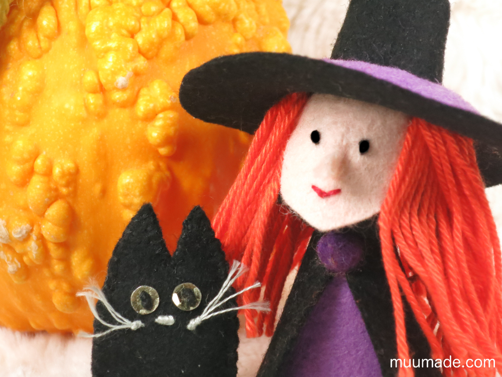 Halloween-Witch-Cat-Finger-Puppets-with-Pumpkin