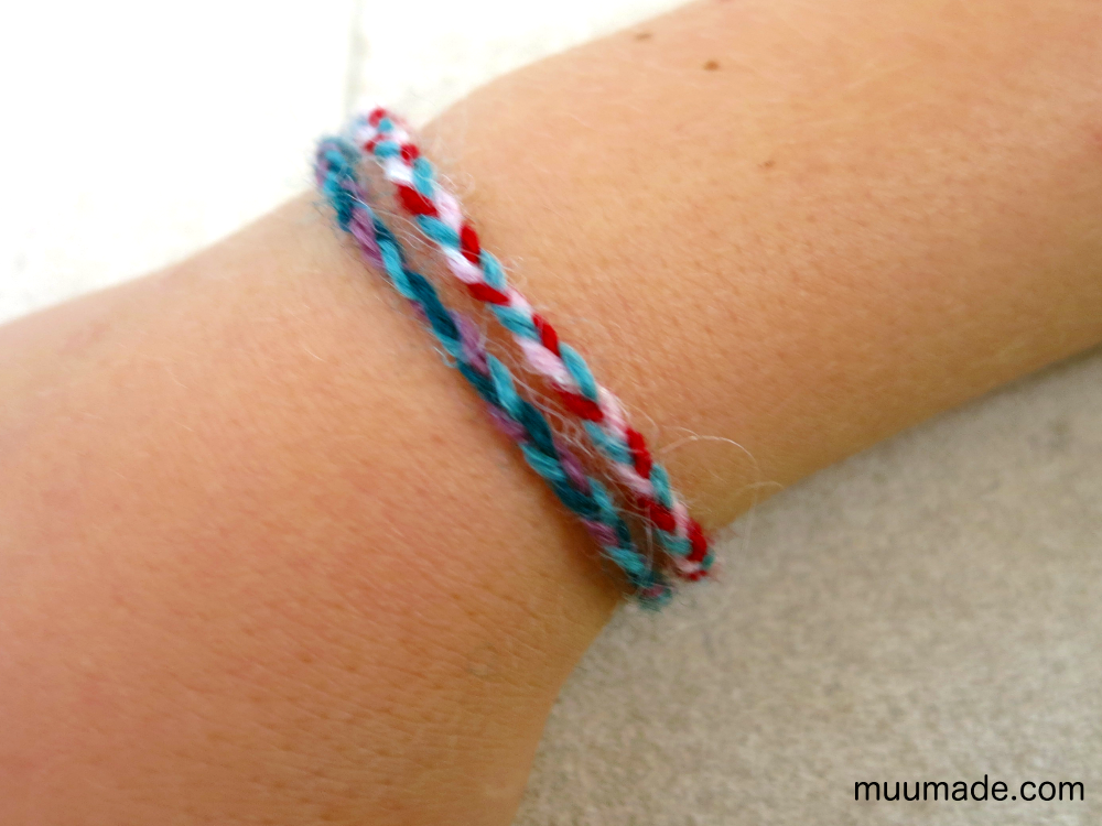 DIY braided friendship bracelet