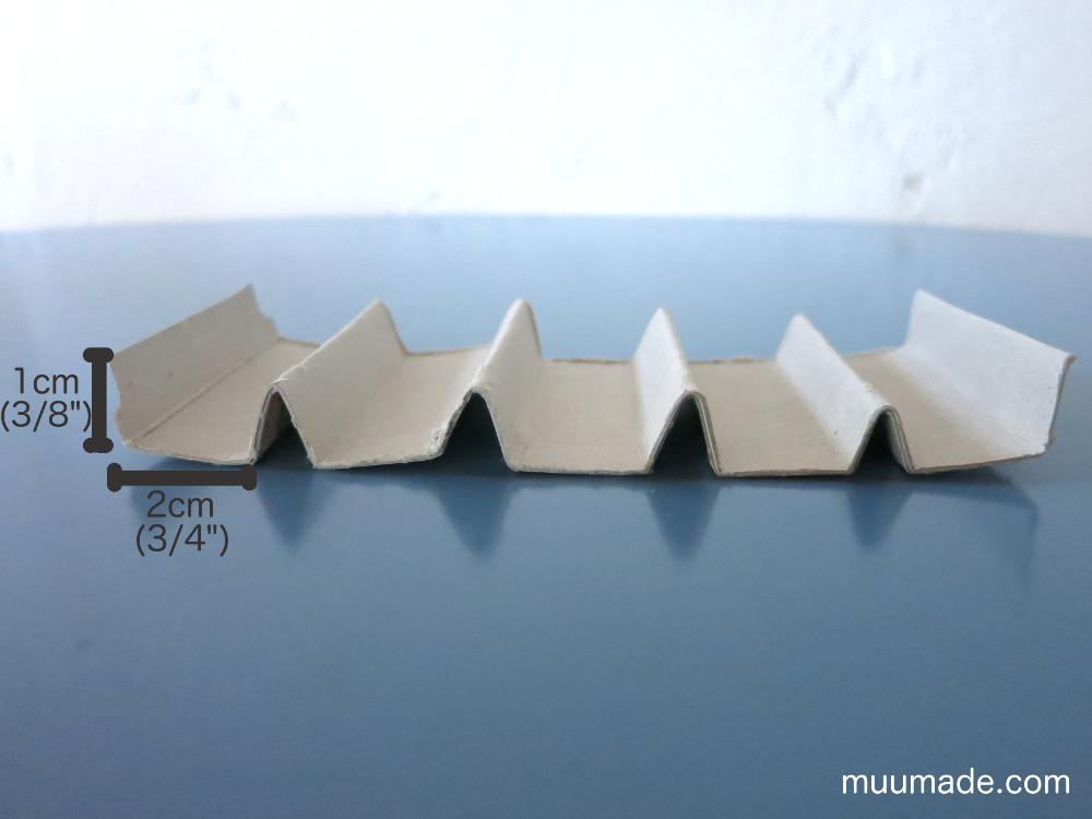 Thin cardboard folded to organize bobbins