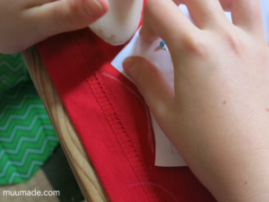 Desiging your own applique for a T-shirt: transferring patterns onto fabric