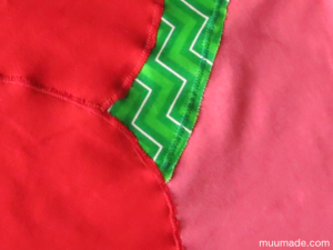 Designing your own applique for a T-shirt: closeup before washing
