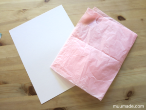 Tissue Paper Ball Craft- construction paper and tissue paper