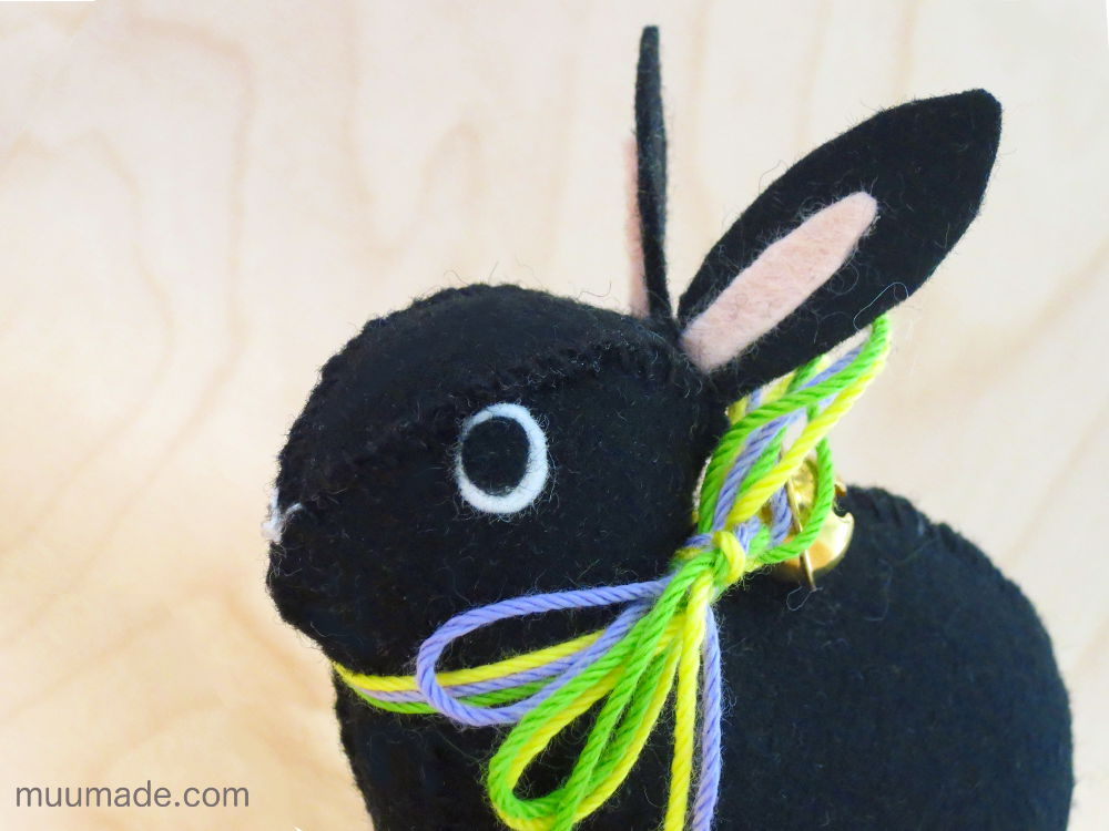Little Felt Bunny with felt eyes