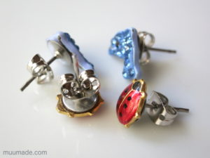 Converting Clip Earrings into Stud Earrings