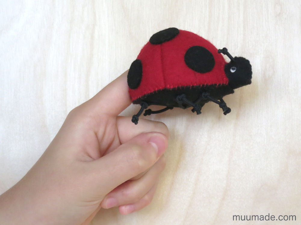 Lucky Ladybug Finger Puppet