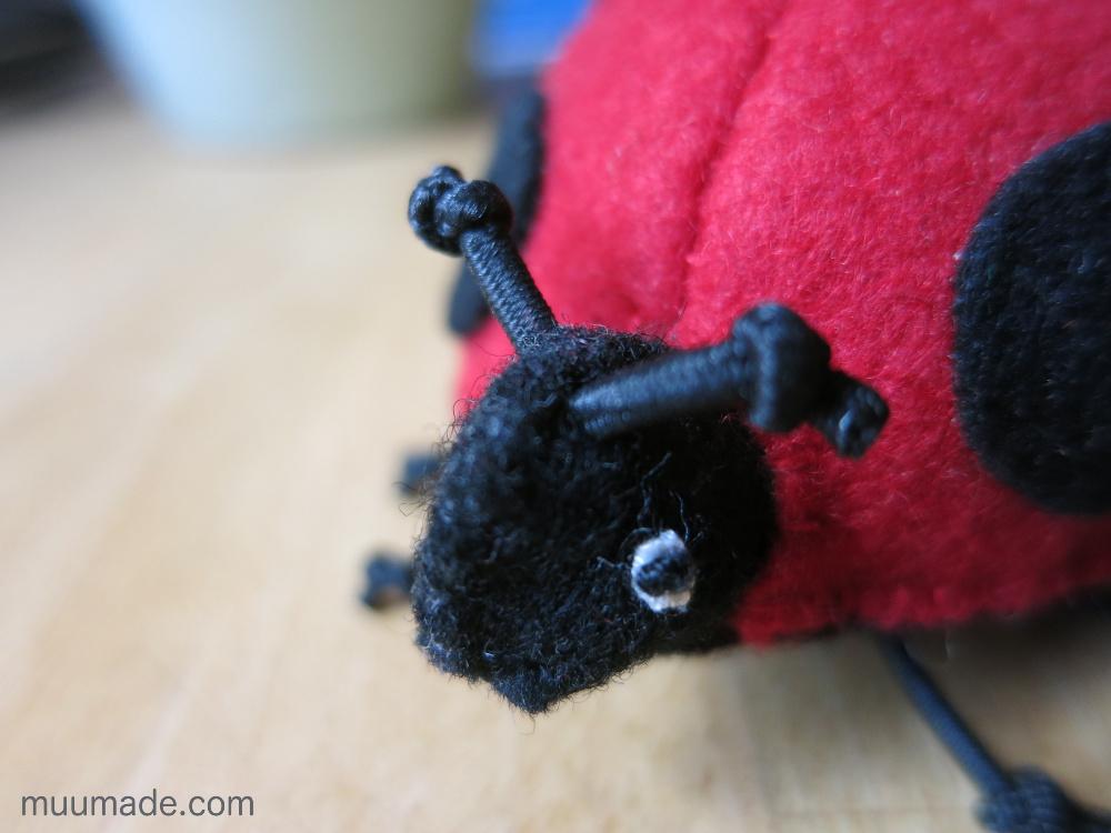 Lucky Ladybug Finger Puppet closeup