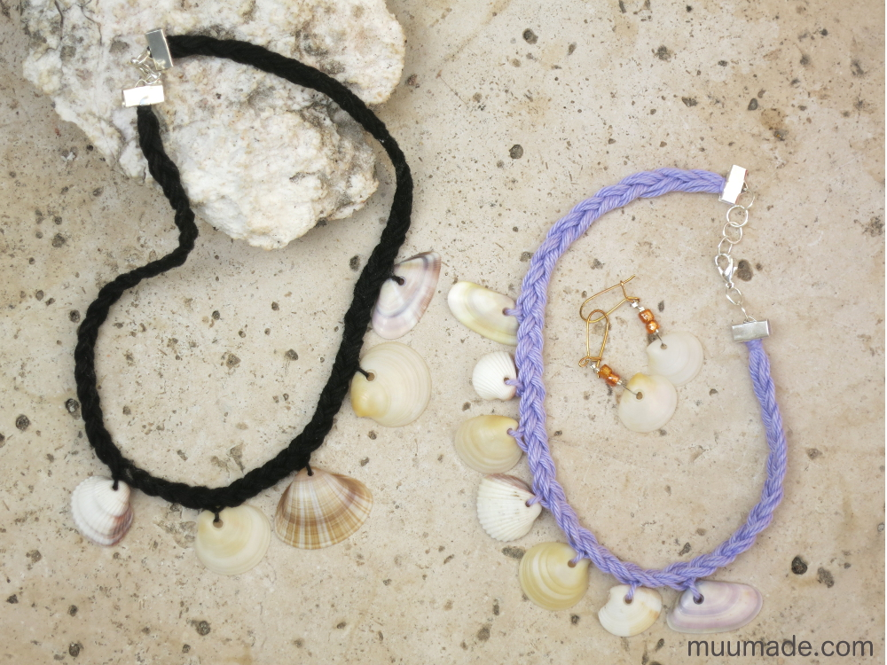 How to make a seashell choker necklace