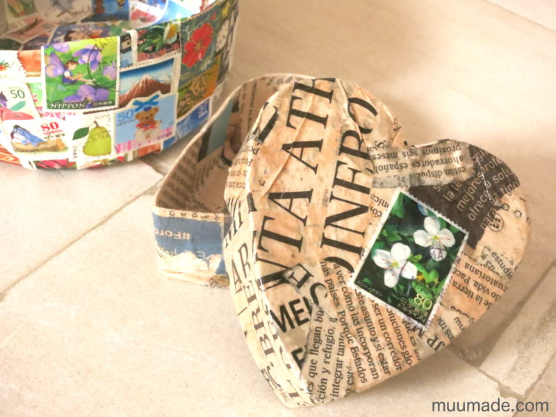 How to make a paper mache box with a lid
