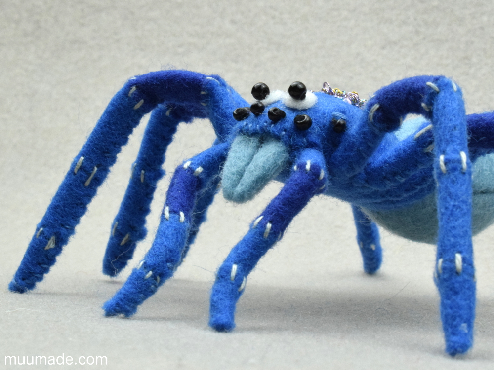 Little Felt Spider Muumade's sewing pattern & tutorial