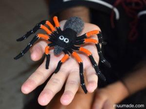 Little Felt Spider - Muumade's sewing pattern & tutorial