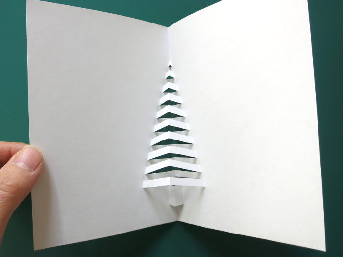 Pop Up Spiral Christmas Tree