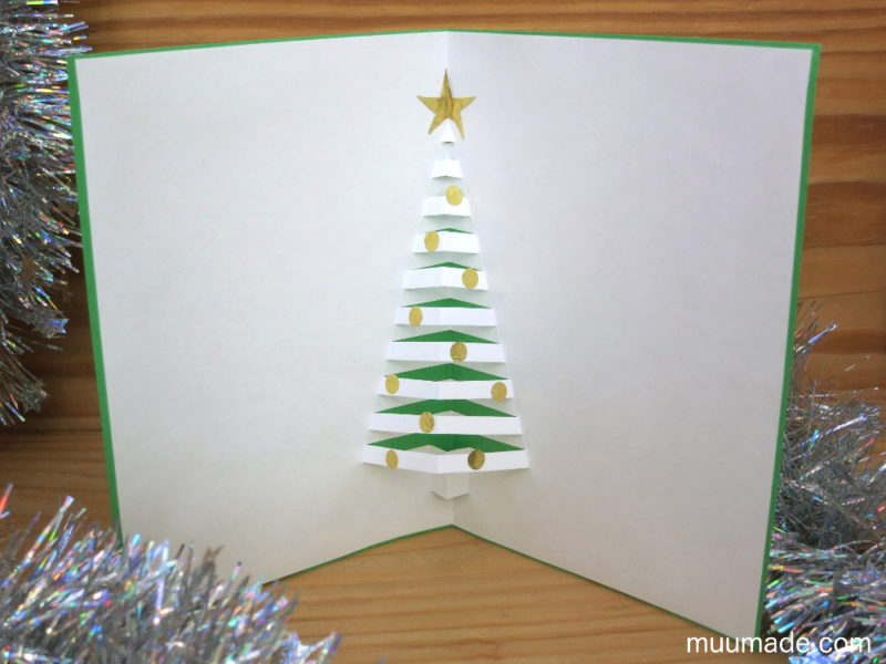How to Make a Pop-Up Christmas Tree Card - Muumade