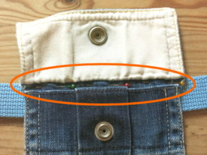 Making a waist pouch from a pocket, an upcycling DIY project!