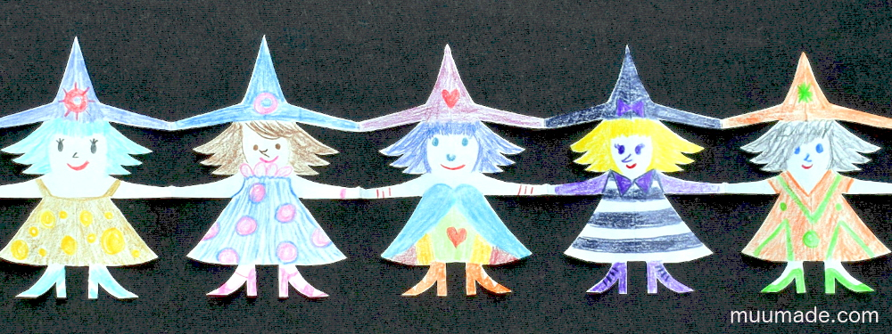 Free Witch Paper Chain Templates - Muumade.com