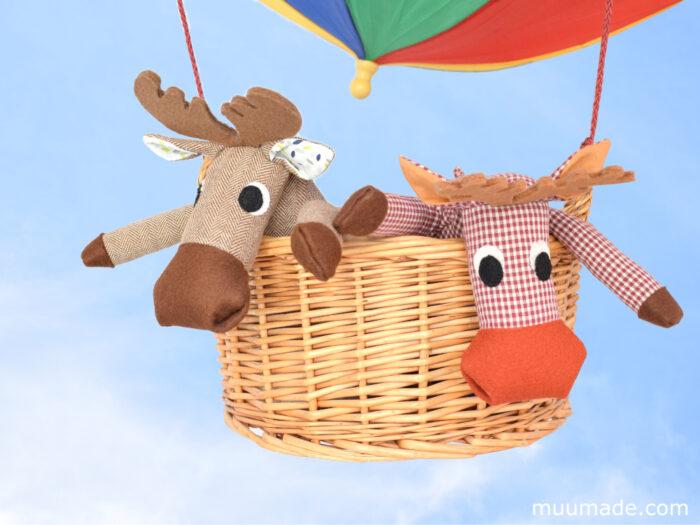 Huggable Moose & Reindeer sewing pattern from Muumade.etsy.com
